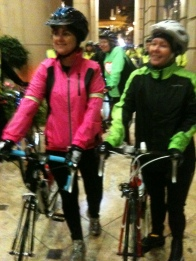 Me and my brilliant cycling buddy getting ready for the overnight bike ride on 17/9/2011