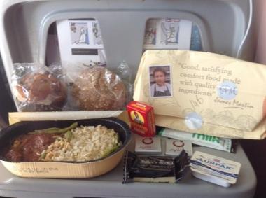 Gluten free in flight meal