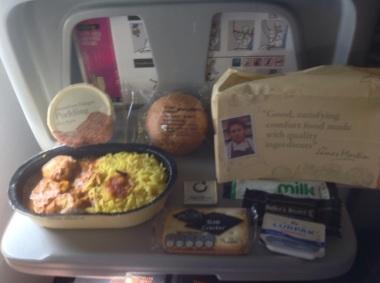 Regular in flight meal