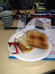 The breakfast favourite: Sausage and egg sarnie