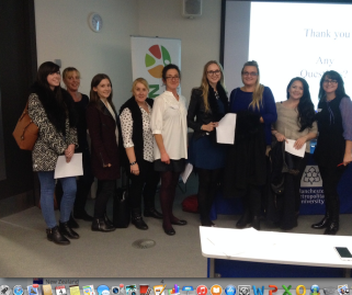 3rd Year Edge Hill Nutrition Students at the Association for Nutrition Regional Meeting